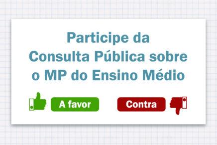 Senado abre consulta pública sobre a MP do Ensino Médio