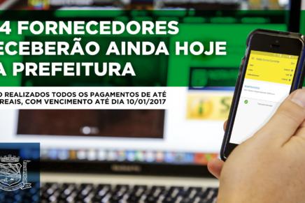 Nova administração de Araucária quita dívidas de até R$ 8 mil com fornecedores
