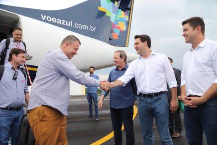 Ratinho Junior inaugura o aeroporto municipal de Pato Branco