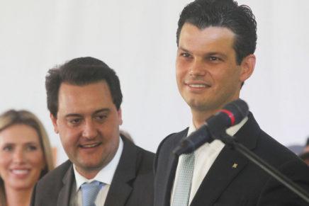 'Copel será modernizada', diz o governador Ratinho Jr na posse de Daniel Pimentel