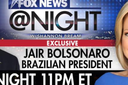 Bolsonaro é alvejado pela Fox News com perguntas sobre milícias e Marielle