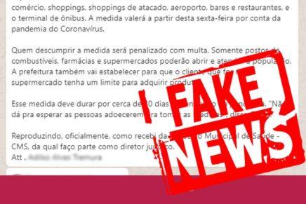 Prefeitura de Curitiba alerta para mensagem falsa de que Greca fechará comércio e terminais de ônibus