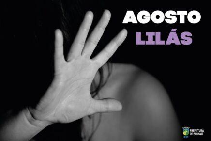 Agosto Lilás é o mês de conscientização pelo fim da violência contra a mulher